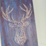 Deer Head String Art DIY