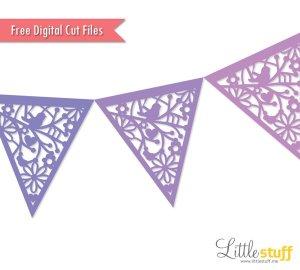 LittleStuff.me: Pennant Bunting Banner Digital Cut File