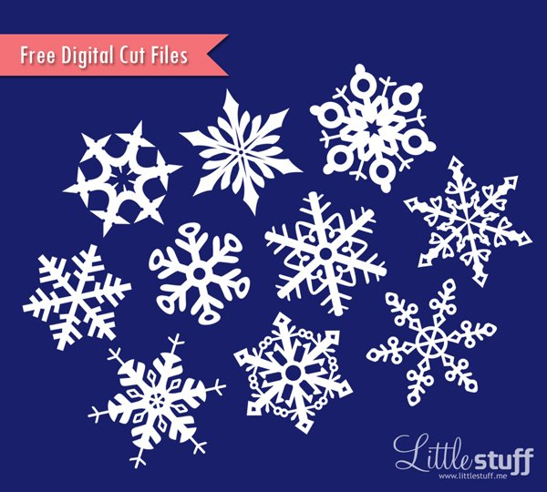 Free Snowflakes Digital Cut Files, SVG and Silhouette Studio