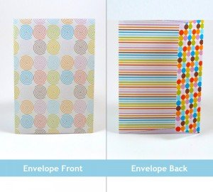 Free Printable Layered Birthday Card Envelope