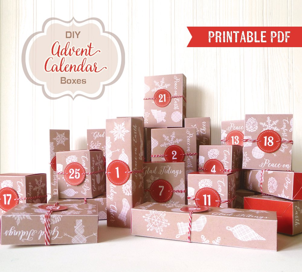 Printable Advent Calendar Boxes: LittleStuff.me
