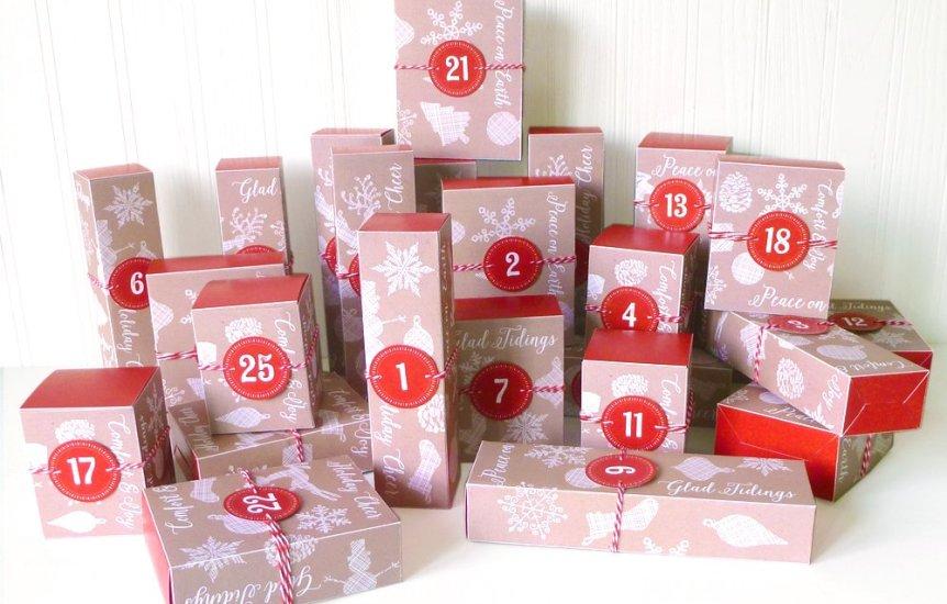 LittleStuff.me: Printable Advent Calendar Boxes