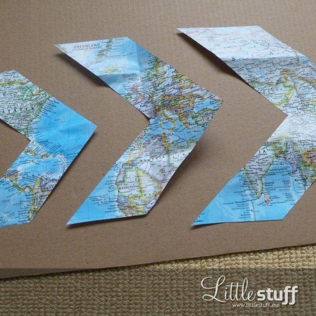 LittleStuff.me: Chevron Map Wall Art