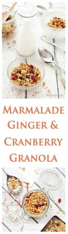 Marmalade, Ginger and Cranberry Granola