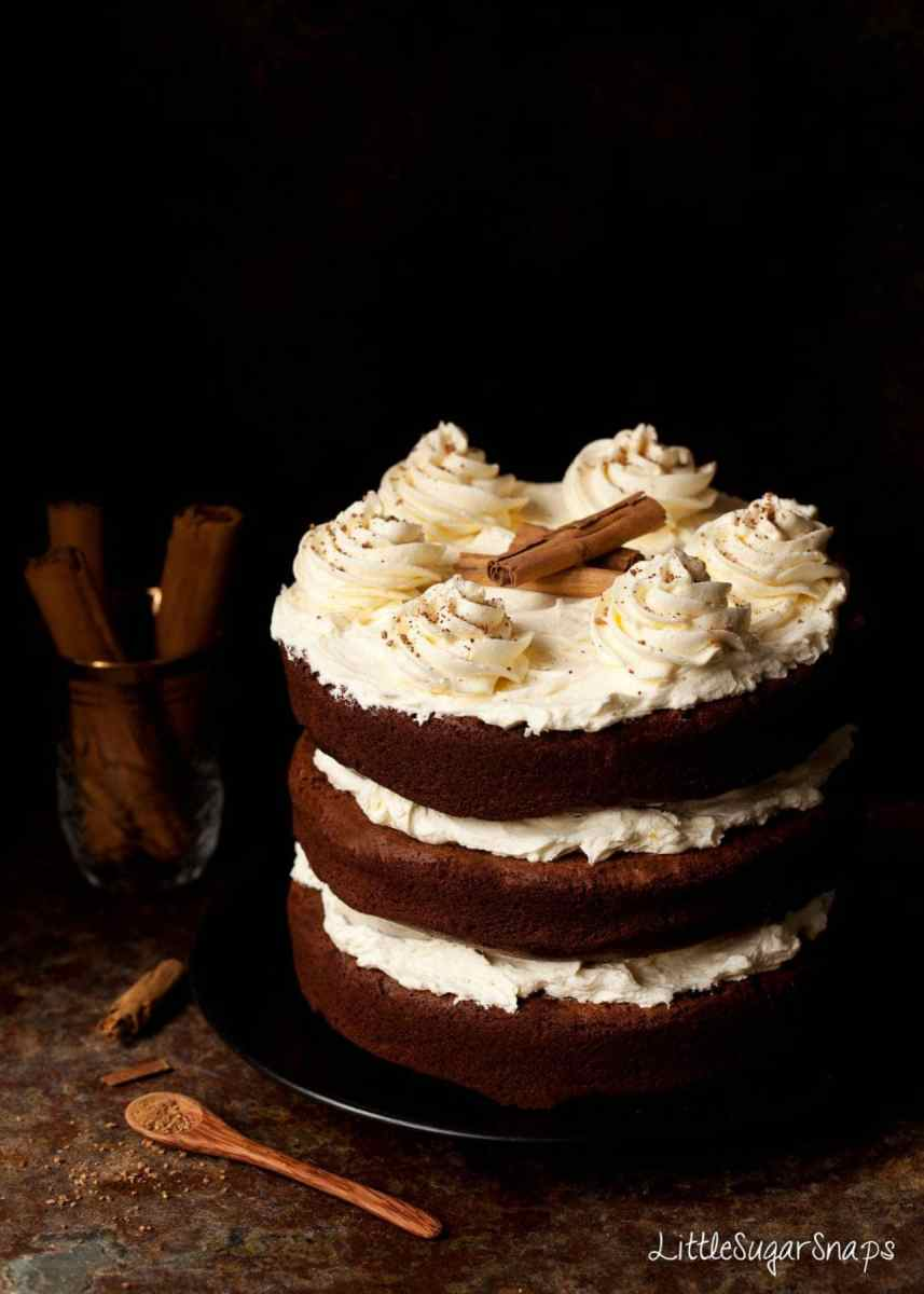 Cinnamon Chocolate Cake with Salted Honey Buttercream