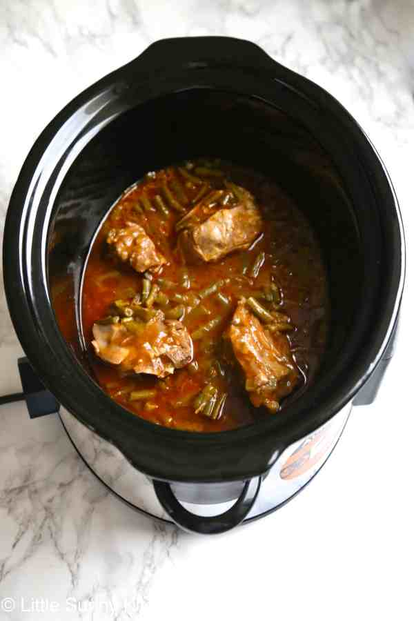 crockpot french beans dish