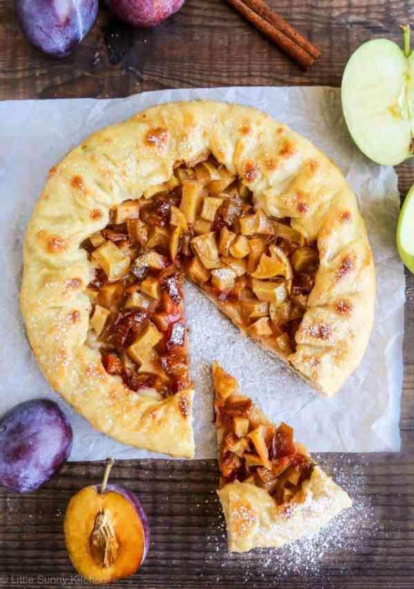 Plum apple galette-1