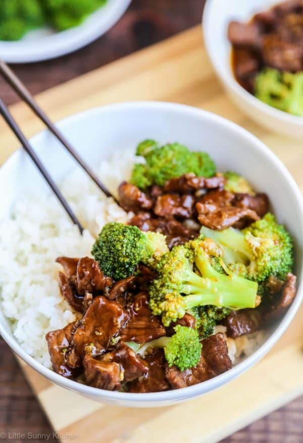 Easy Slow Cooker Beef and Broccoli - forget take-out! This is much better than any take out!