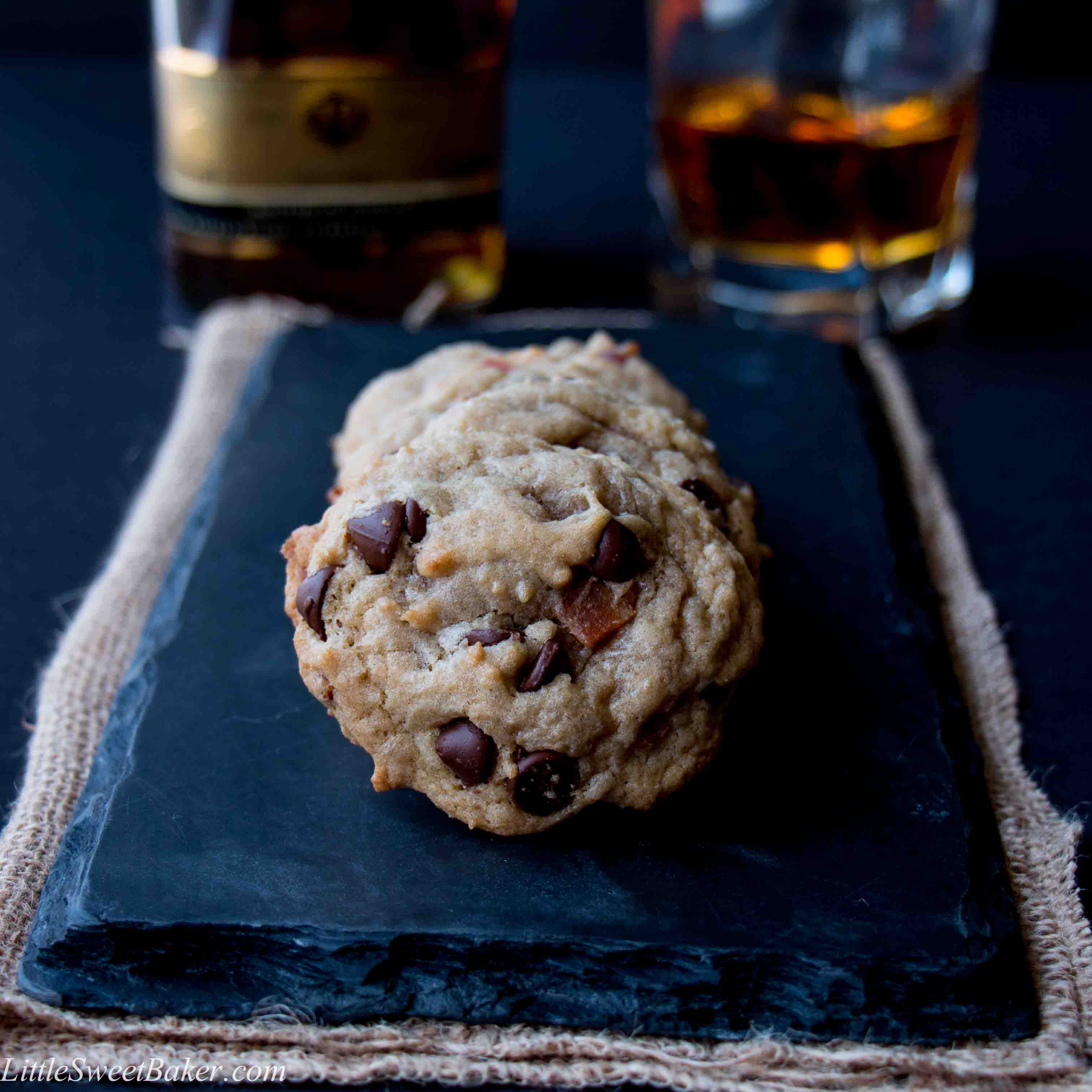 Bourbon Bacon Chocolate Chip Cookies (video) - Little ...
