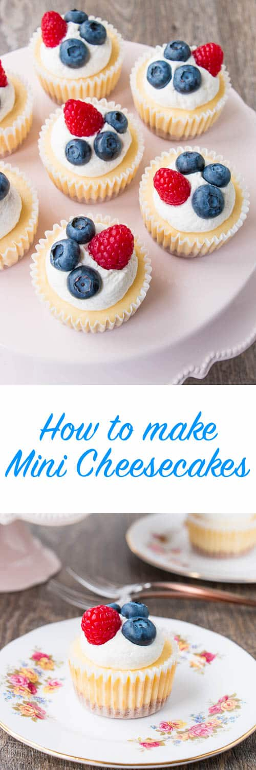 A smooth, creamy, and tangy cheesecake baked on top of a buttery graham cracker crust. These delicious little beauties prove that good things come in small packages. Just 6 ingredients and 20 mins bake time.{Video Recipe}