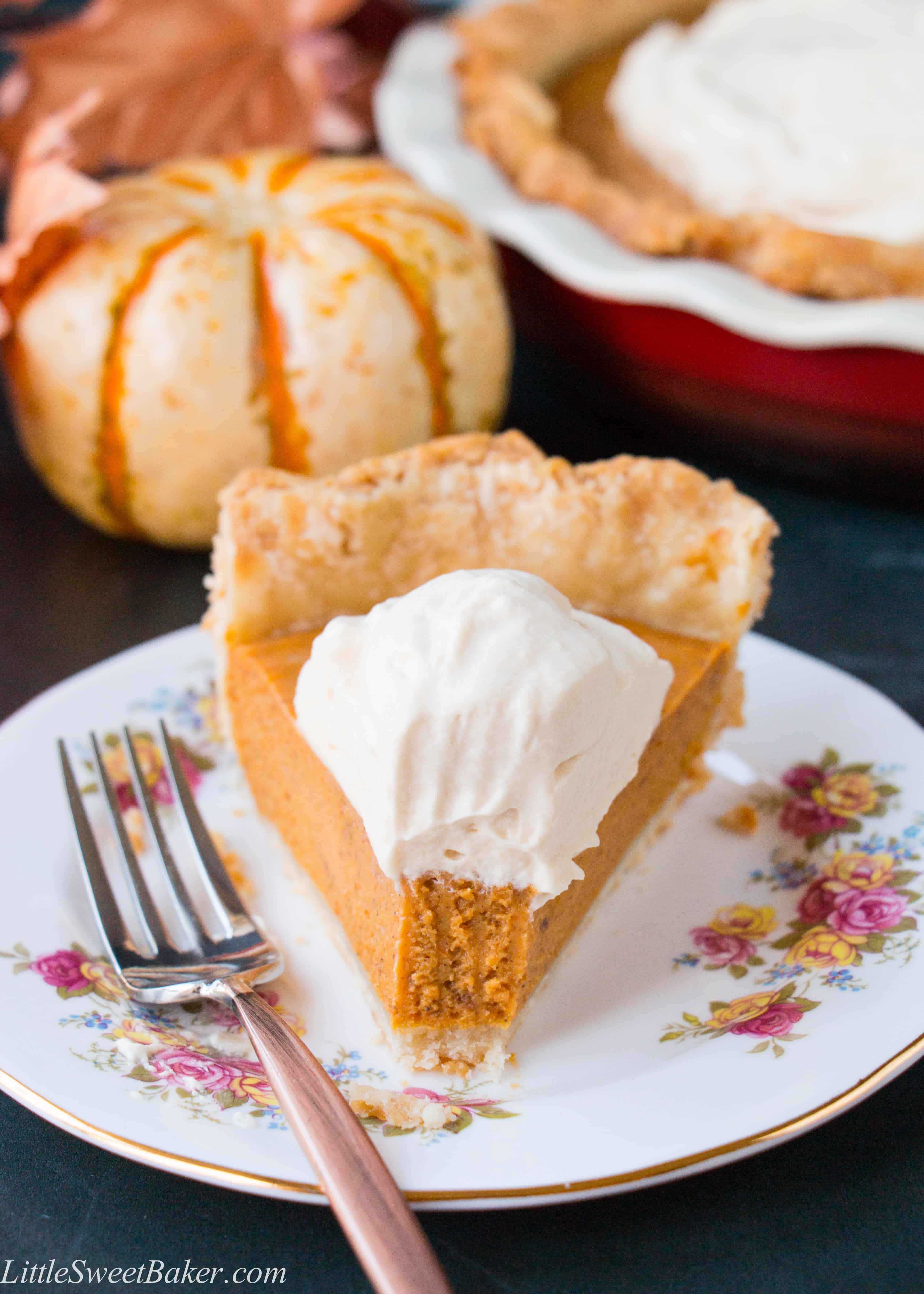 Pumpkin Pie with Salted Caramel Whipped Cream (video ...