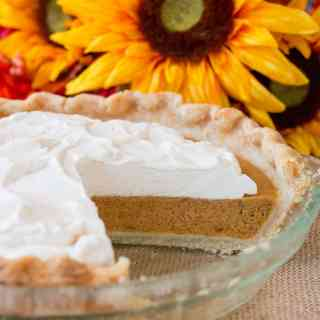 Sweet Potato Pie with Maple Whipped Cream