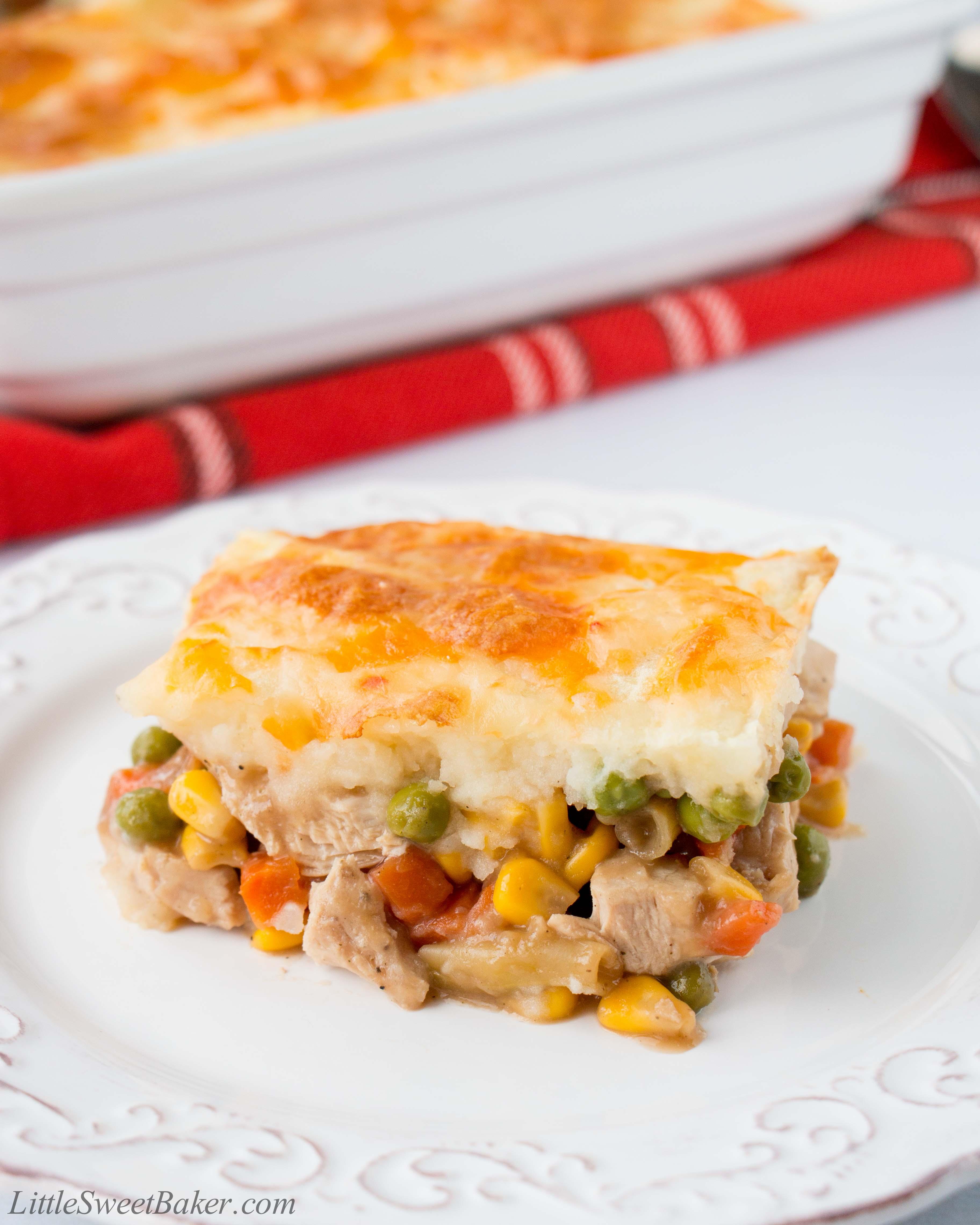 photo Roasted Vegetable and Turkey Shepherds Pie