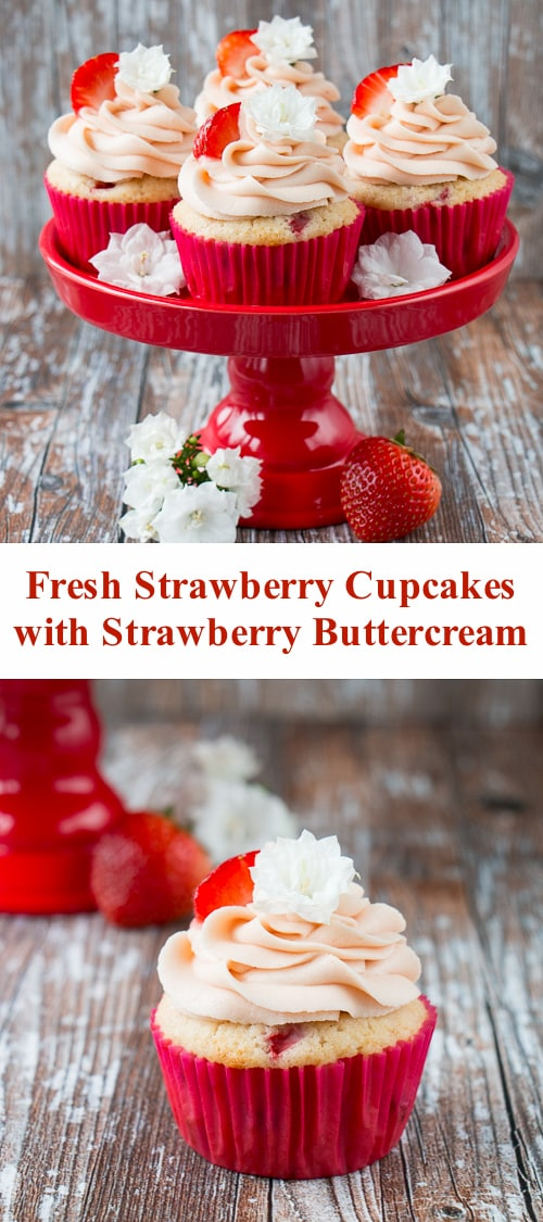 Strawberry Cupcakes With Strawberry Buttercream Little