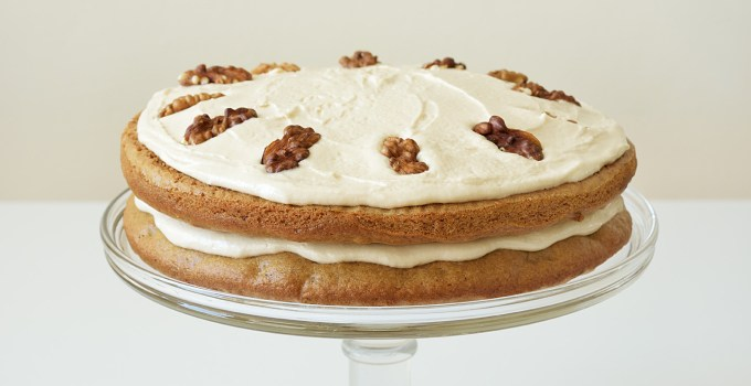 Vegan Coffee and Walnut Cake