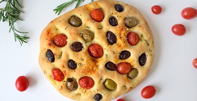 Olive and Tomato Focaccia Bread