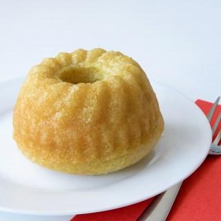 Mini Vegan Lemon Bundt Cakes