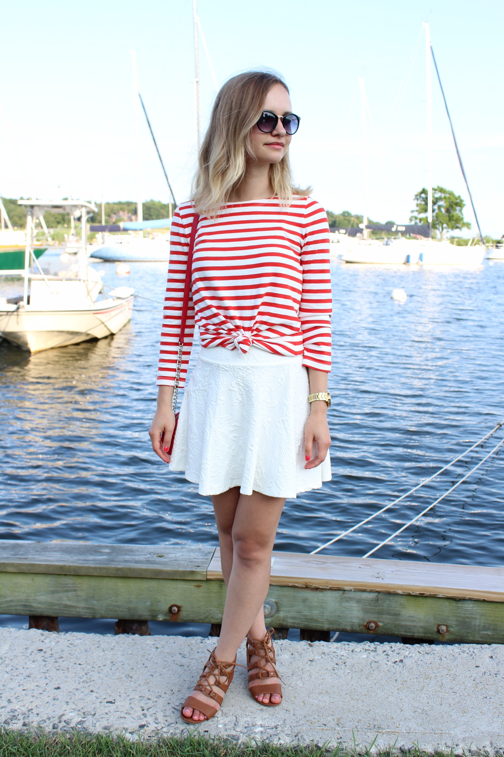 Little Things Olga J Crew Striped boatneck T-shirt