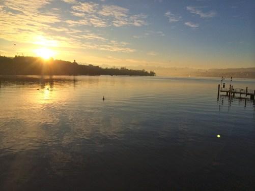 Sunrise in Zurich, Switzerland