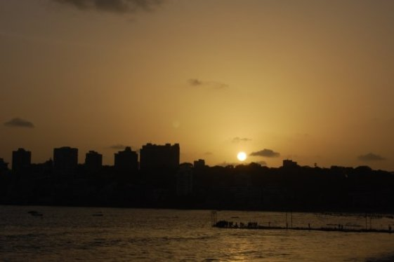 Sunset ay Marine Drive, Mumbai