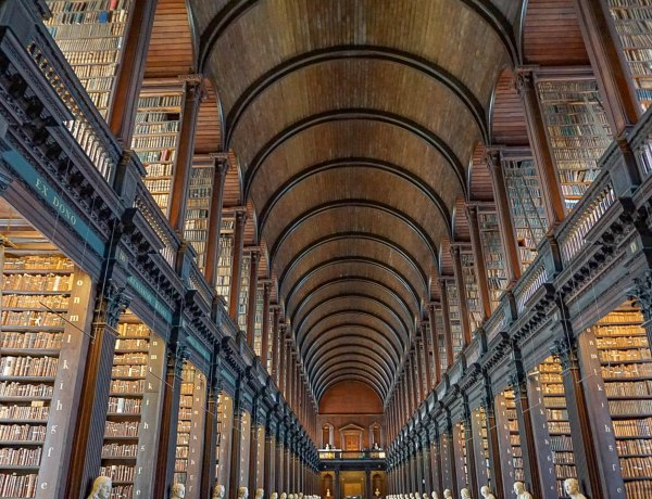 Trinity College The Long Room Library Dublin Ireland