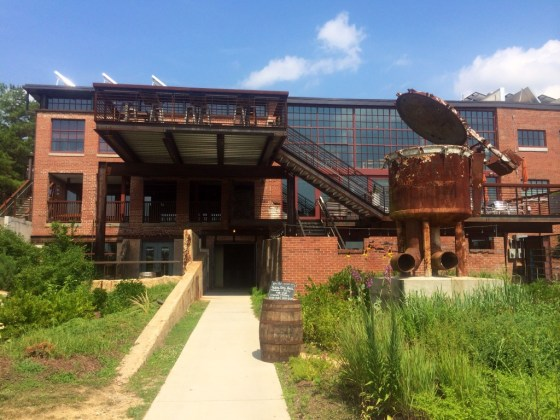 Former Dye House of Saxapahaws Historic Cotton Mill