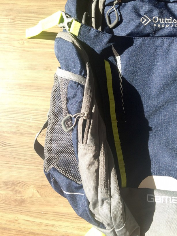 Outdoor Packs Side Compartment