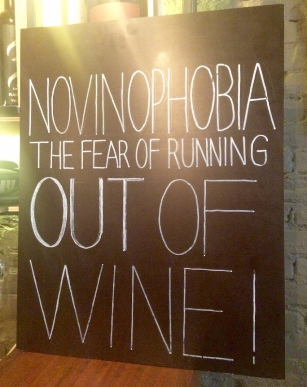 Fear of running out of wine