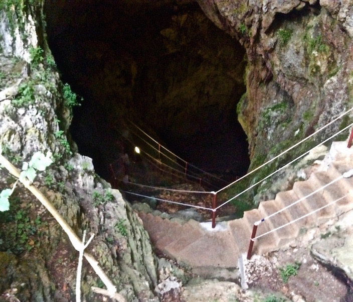 Stairs Leading Into the Cave