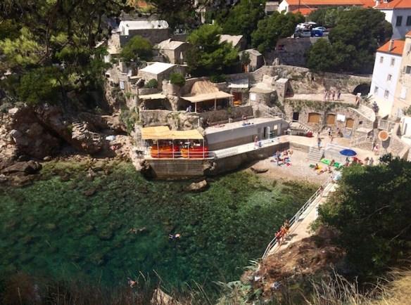 Šulić Beach From Above Dubrovnik Croatia