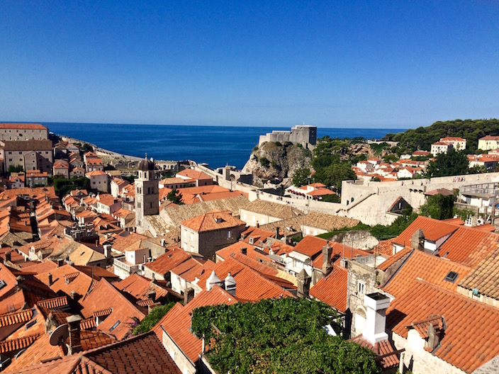 View from the Dubrovnik city walls