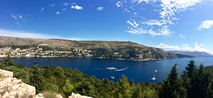 View of Dubrovnik from Fort Royal Island of Lokrum