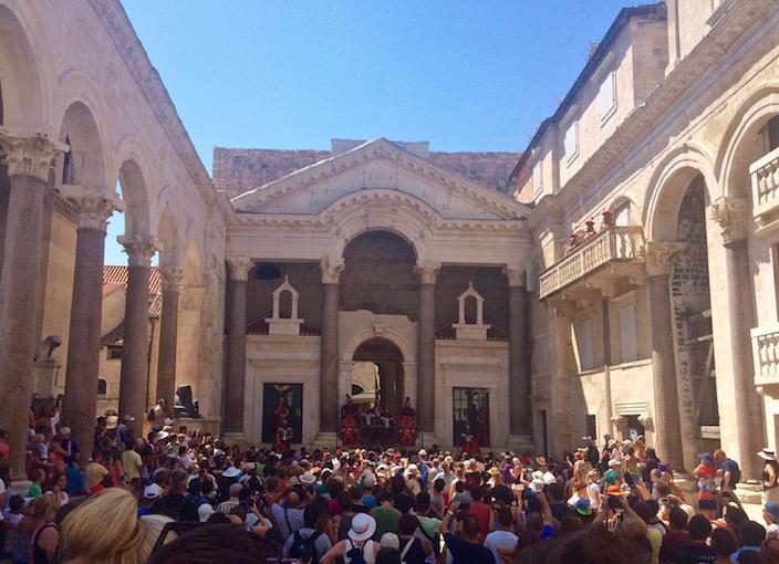 Inside Diocletians Palace Split Croatia