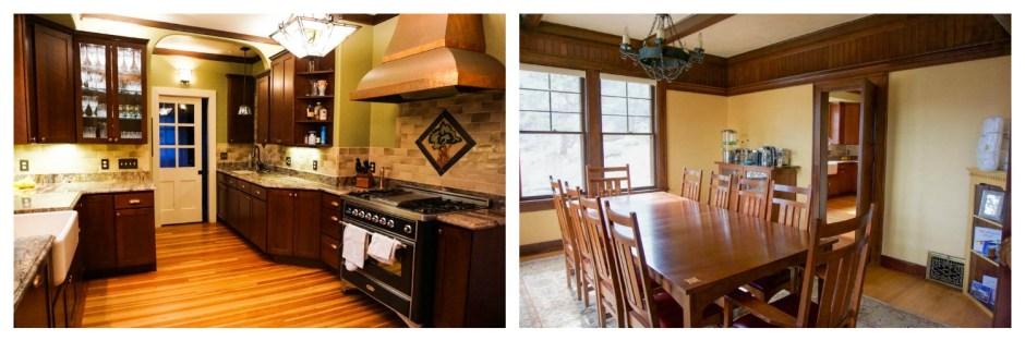 Kitchen and Dining Room - Golden Leaf Inn