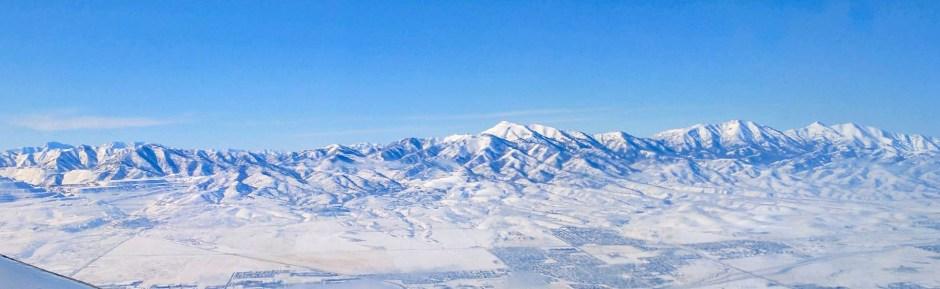 Salt Lake City Utah View from Plane