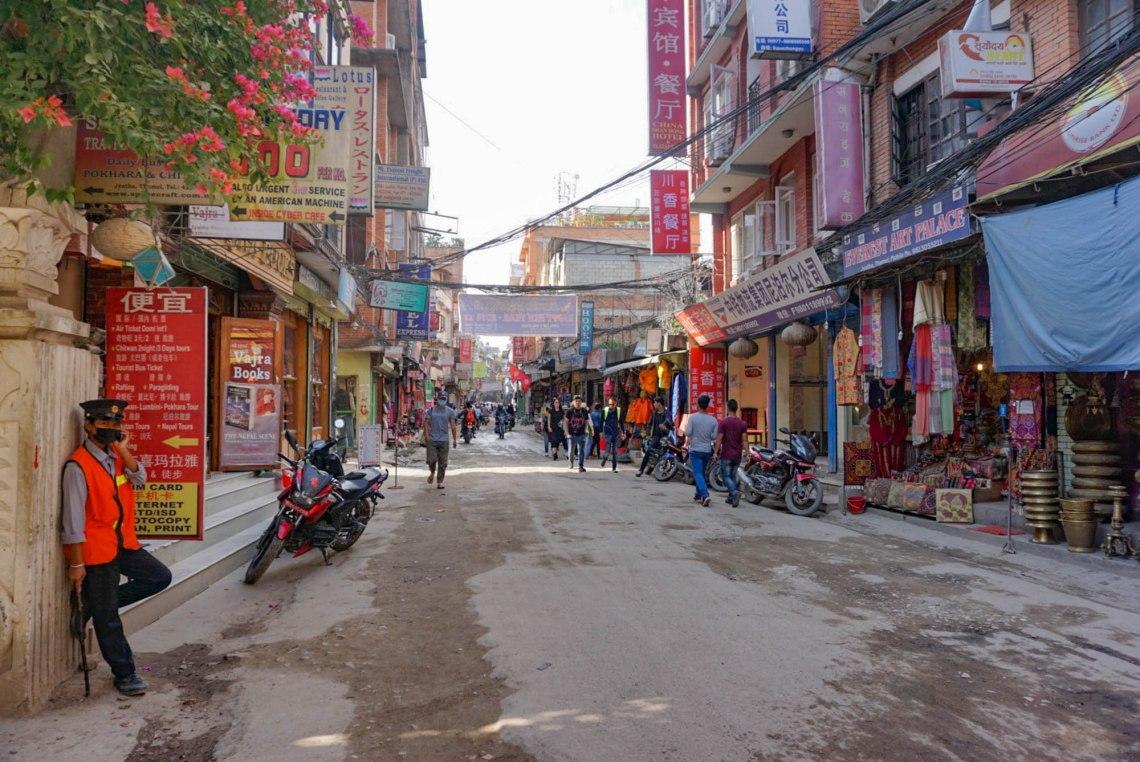 Day in Thamel Kathmandu Nepal
