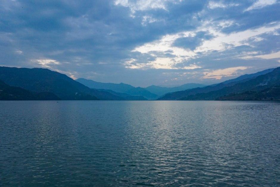 Sunset Lake Phewa Pokhara Nepal