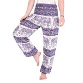 Lavender Elephant Harem Pants