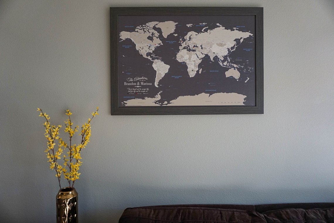 Push Pin Travel Map Wall Art