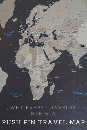 Why Every Traveler Needs a Push Pin Travel Map - Little Things Travel