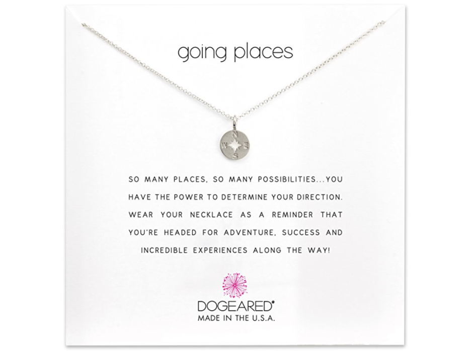 Inspirational Compass Necklace - Travelers Gift Guide