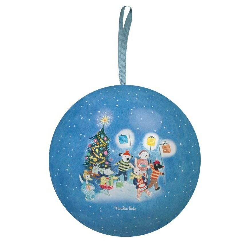 Moulin Roty Large Grand Family Christmas Bauble Blue