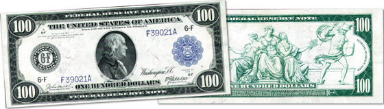 [photo: $100 Federal Reserve Note - Series 1914]]