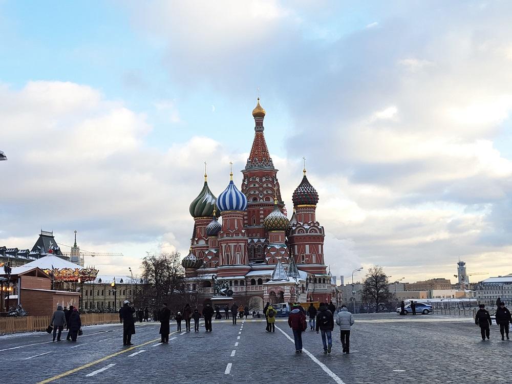Roter Platz in Moskau im Dezember