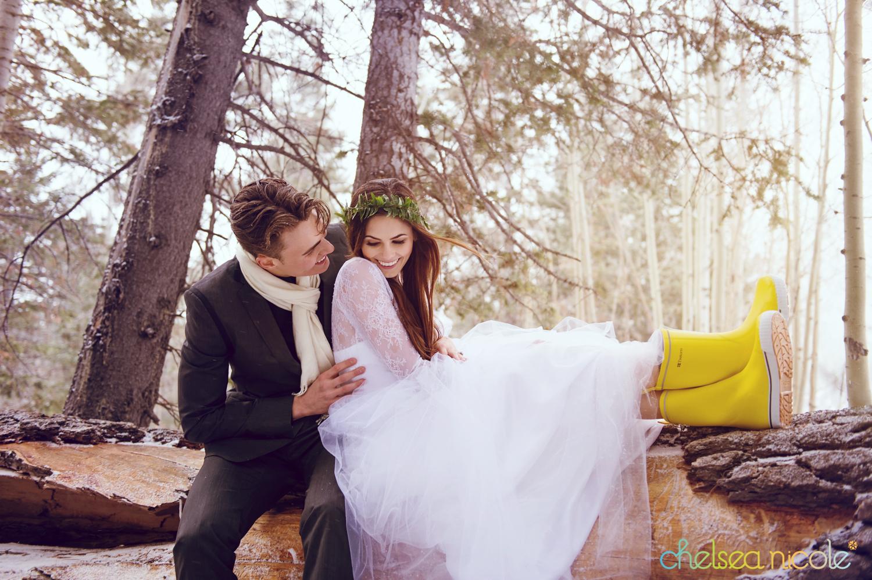 Las Vegas Winter Woodland Wedding Inspiration From Chelsea