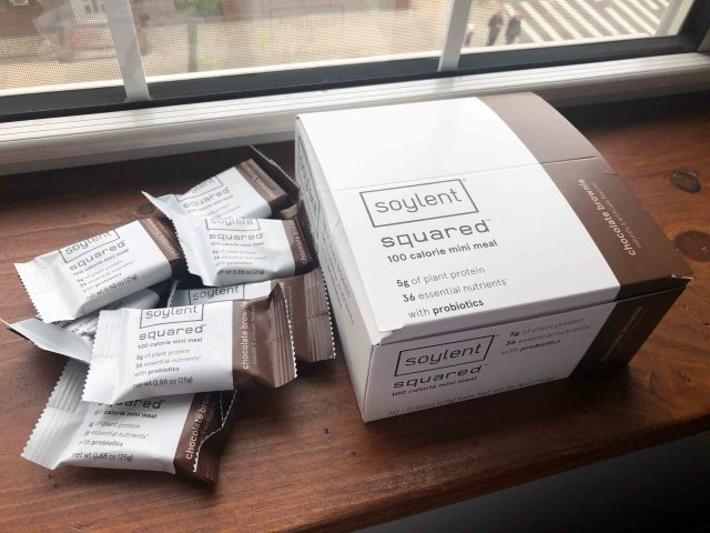 soylent box on windowsill with bars out