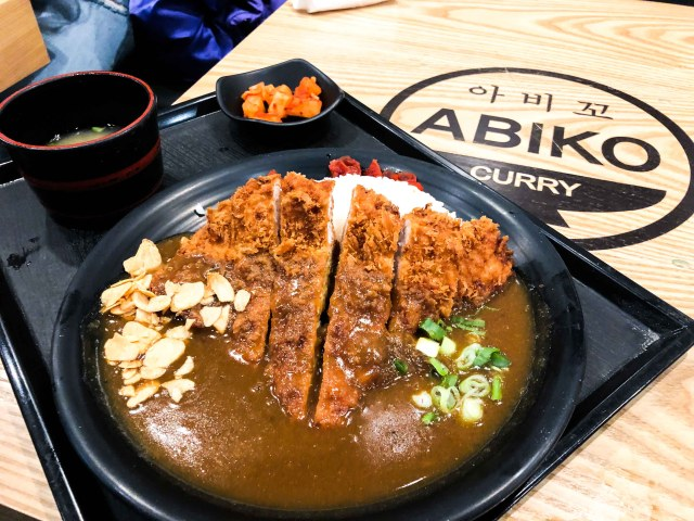 Pork cutlet curry from Abiko