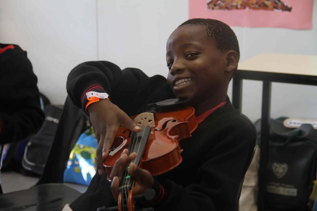 Muzi with his violin