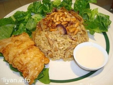 Рыба с рисом и кедровыми орешками ( Sayadieh samak )