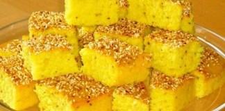 Ливанский торт из манки с куркумы Sfouf